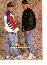 Marky Mark Wahlberg Donnie Wahlberg teen magazine pinup clipping New Kids Bop