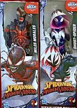 Marvel Titan Hero Series Spiderman Maximum Venom Miles Morales & Ghost-S... - $34.65