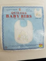 baby bibs quilted for embroidery little angel 3 pack printed craft pattern - $14.85