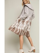Anthropologie Embroidered Treeline Sweater Coat By Angel Of The North XS... - $159.99