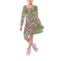 Hollywood Studios Map Kids Velvet Winter Dress - $53.99+