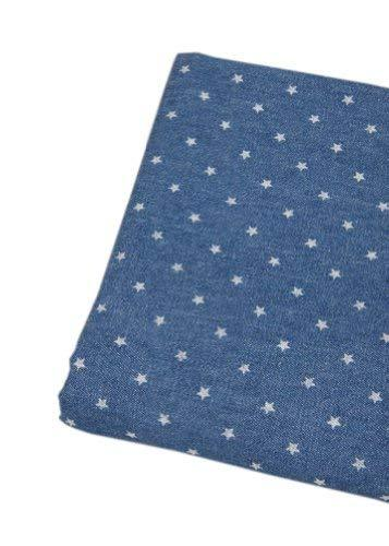 59'' Wide Home Fabrics Washed Denim Fabric Mazarine, One Yard(D)