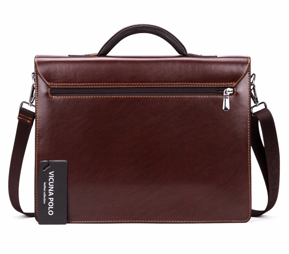 VICUNA POLO® Luxury Business Men Briefcase with Code-Lock High Quality OL Italy