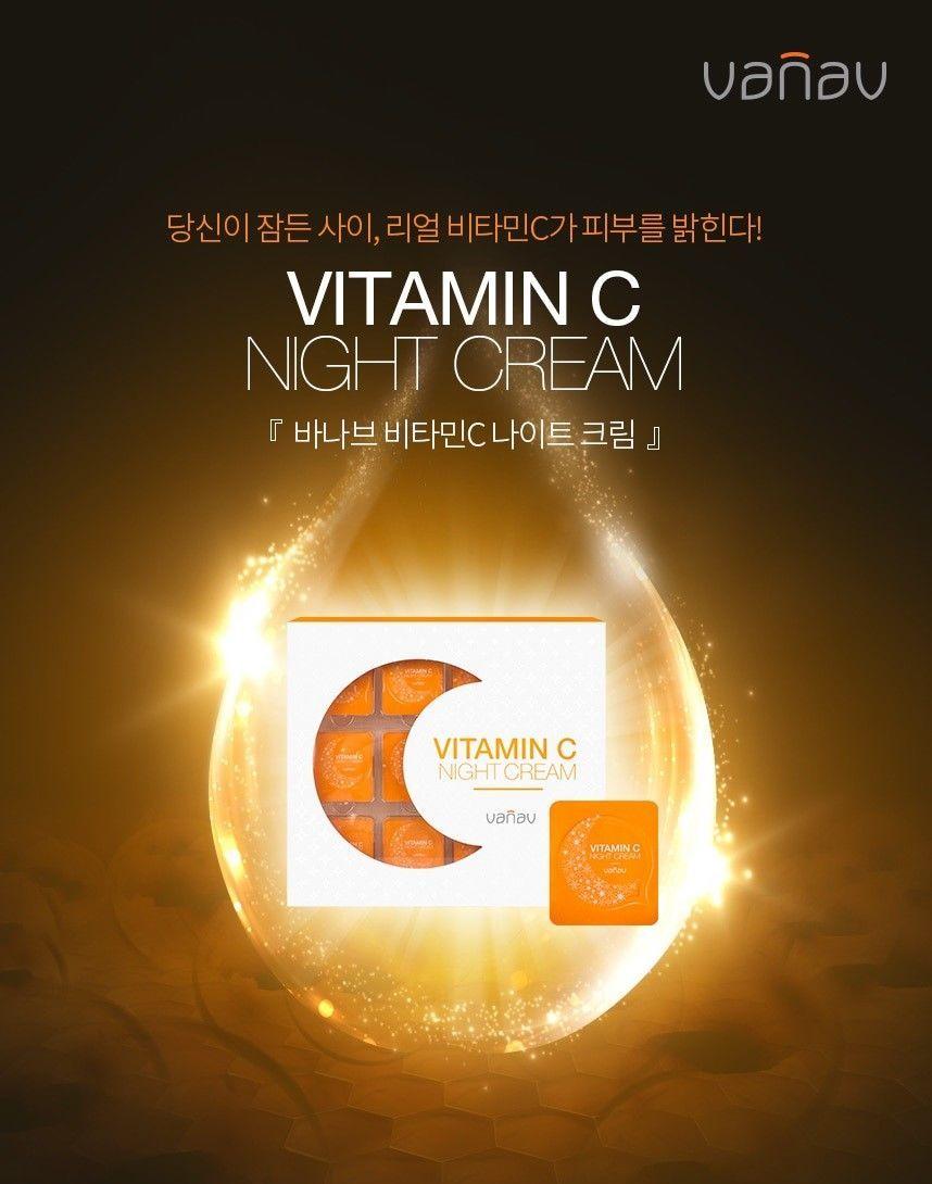 VANAV VITAMIN C NIGHT CREAM for 4 days SPECIAL TRIAL 4 PACKS Sleeping Treatments