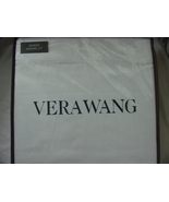 Vera Wang Simple Scallop White on White Cotton Sheet Set Queen - $78.00