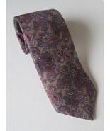 All Silk 100% Tie Hardy Amies Paisley London Brown/Rust Men's Cravatte - $19.10