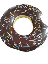 Swim About Large Donut Swim Ring Tube Pool Inflatable Floats for Adults (Brown) image 5