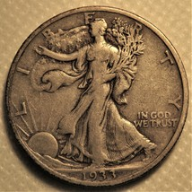 1933-s Liberty Walking Half Dollar with sharp details! - $38.00