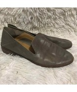 Lucky brand Gray Leather Slip on Loafer low heel women 7 - $36.00