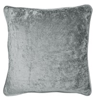 """CRUSHED VELVET SILVER GREY RING TOP CURTAINS *8 SIZES* & 2 X 17"""" FILLED ... - $51.74+"""