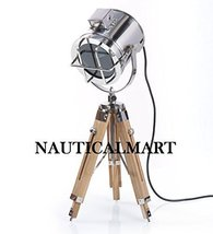 Nickel Finish Tripod Table Lamp Home Decor - $147.51