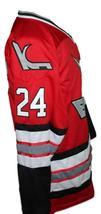 Custom Name # Kansas City Blades Retro Hockey Jersey New Red Any Size image 4