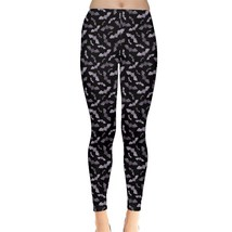 Women's Bat Silhouettes Printed Stretchy Slim Pants Leggings (XS-5XL, Bl... - $24.99+