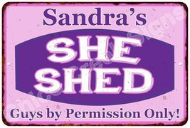 Sandra's Purple & Pink SHE SHED Vintage Sign 8x12 Woman Wall Décor A8120... - $16.95+