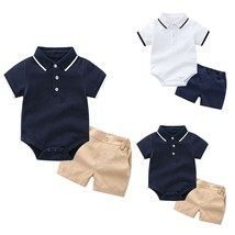 Newborn Boys Outfits Toddler T shirt Romper Tops Solid Pants Trousers Cl... - $11.70