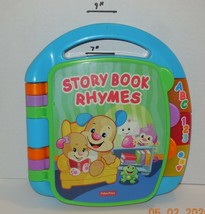 Fisher PrIce Story Book Rhymes Musical Book Lights and 6 Songs Blue - $14.03