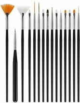 15 Pcs Acrylic Nail Brush, Nail Brushes for Acrylic Application Includin... - $12.08
