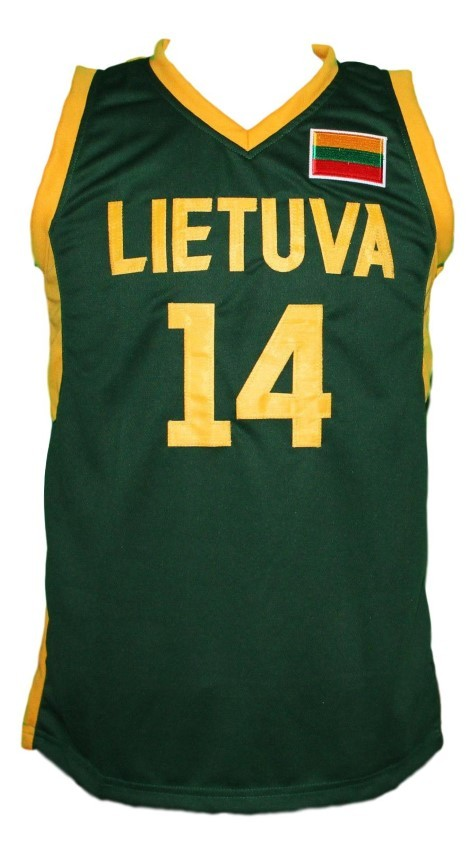 Jonas valanciunas lithuania basketball jersey green   1