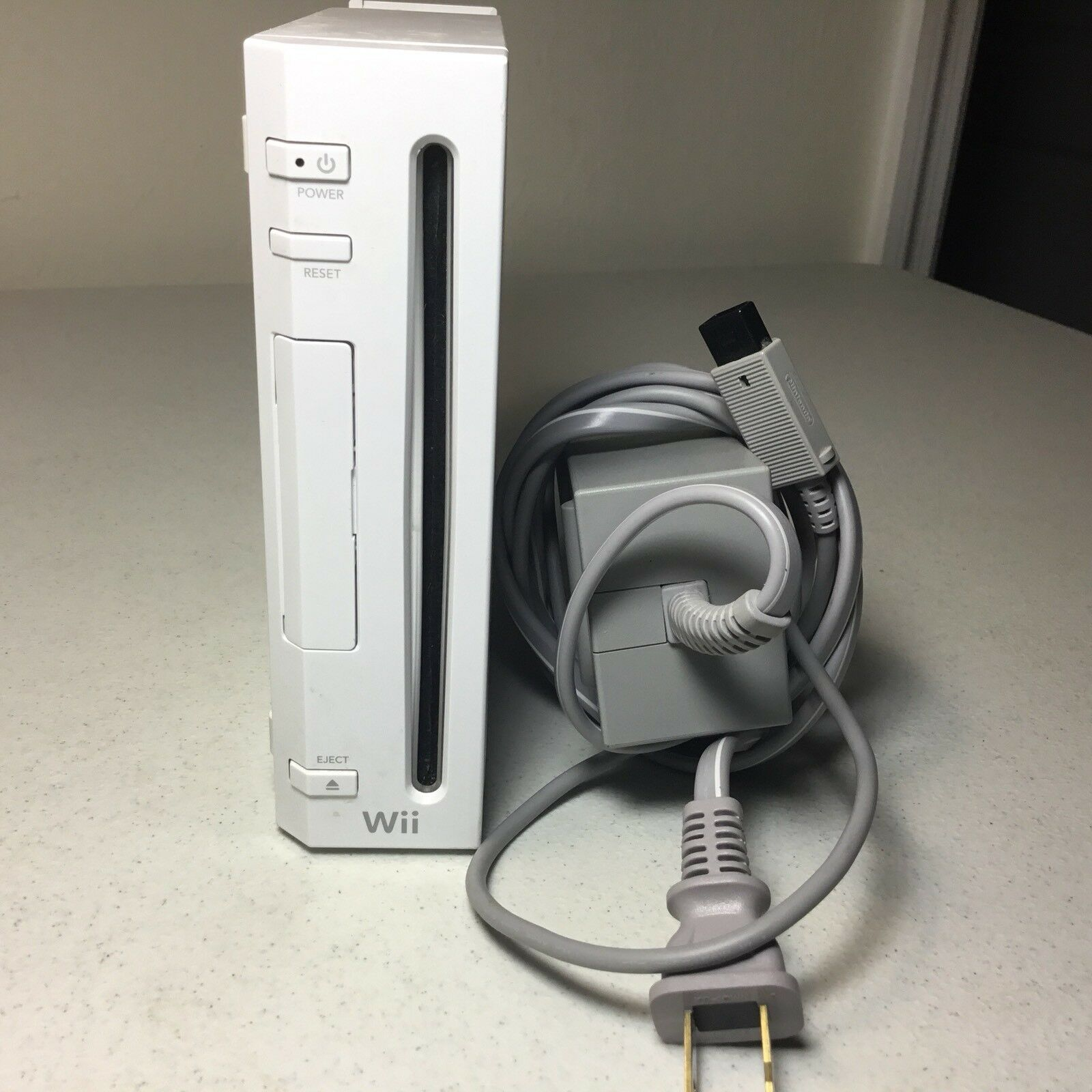 Nintendo Wii White Console And Wall Plug Only Working Replacement GameCube