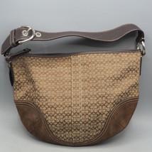 Coach Signature Logo Women's Brown Tan Shoulder Bag Purse F0732-F10924 - £38.20 GBP
