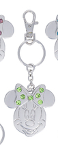 Disney Parks Minnie Mouse Metal August Faux Gem Birthstone Keychain Key Chain - $18.90