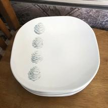 """Pfaltzgraff SPRUCE Pine Cone Square Luncheon Plate 9 3/8"""" Blue - $9.90"""