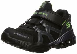Skechers Kids Boys' MEGA-Volt Sneaker, Black/Purple, 12.5 Medium US Litt... - $49.49