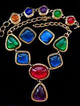 BOOK PIECE! KJL For Avon Caprianti Collection Foiled Lucite Cabochon Ful... - $298.00