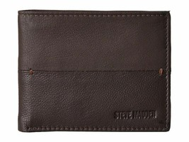Steve Madden Men's Premium Leather Credit Card Id Wallet Brown N80027/01 image 1