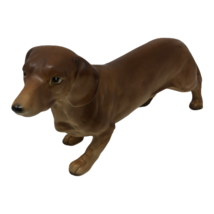 Vintage Vcagco Dachshund Weiner Dog Figurine Statue Made in Japan Dog Lo... - $24.74
