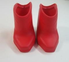 Vintage 1984 Ideal CBS Toys Kitt & Kaboodle Red Original Cowboy Boots for Kitt - £7.81 GBP
