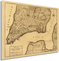1776 Plan of New York City Map Print - NYC Vintage Map Wall Art - Map of New Yor - $34.99+