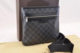 LOUIS VUITTON Damier Graphite Thomas Shoulder Bag N58028 LV Auth 7468 - $820.00