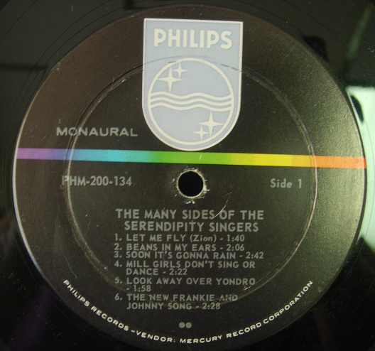 The Many Sides of the SERENDIPITY SINGERS  - Philips Records PHM 200-134