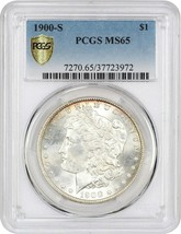 1900-S $1 PCGS MS65 - Morgan Silver Dollar - $1,290.10