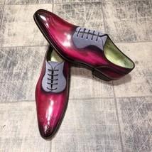 Handmade leather lace up dress shoes for men unique design custom shoes for men - $159.99 - $219.99