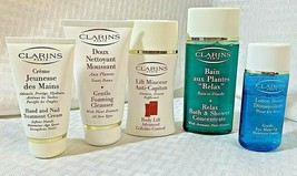 Clarins 5 Pc Lot Foam Cleanser Body Lift-Bath & Shower Makeup Remover and Nail - $29.99