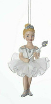 Kurt Adler White & Silver Blonde Ballet Princess Ballerina Christmas Ornament - $9.88