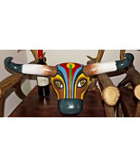 "Huge 24"" Pop Art cow head ! Oh La Vache ! Art Deco Nouveau wood wall Dis... - $220.00"