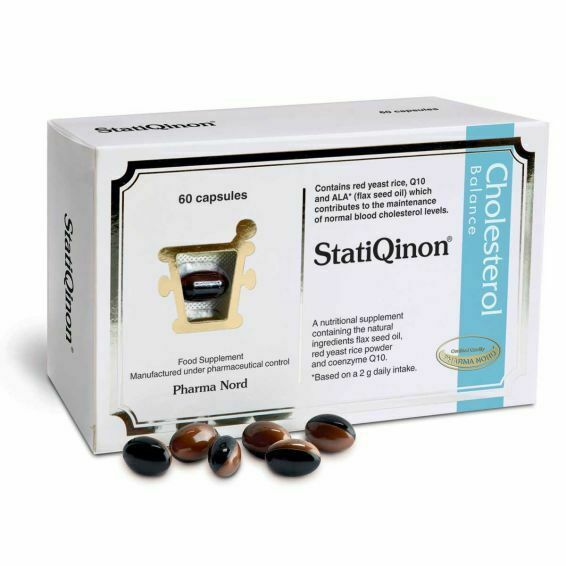 Primary image for Statiqinon - 60 caps - Natural Cholesterol Balance with flax seed oil red yeast