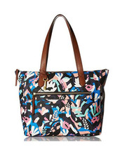 New Fossil Women's Fiona Tote Black Floral - $119.78