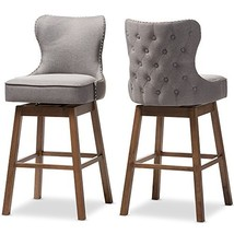 Baxton Studio 424-7073-AMZ Bar Stool 2-Piece Set, Gray - $485.17