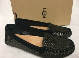 Ugg Australia Dari Metallic Black Basket Loafers SLIP-ON Shoes 1011644 Women's - $69.99