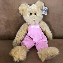 "Aimee The Bearington Collection stuffed plush 13"" bear pink jumpsuit 199... - $16.50"