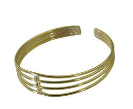 pulchritudinous Plain Gold Plated multi Bangle Glass gemstone US - $13.16