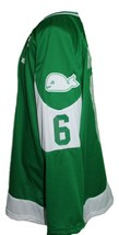 Custom Name # New England Whalers Retro Hockey Jersey New Green #6 Any Size image 3
