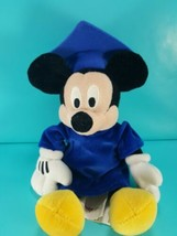 "Mickey Mouse Graduation Blue Cap & Gown 9"" Tall Disney Store Stuffed Plush - $16.82"