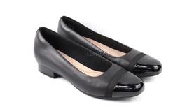 Womens Clarks Juliet Monte Pumps - Black Leather Size 8.5 [26136864] - $64.99