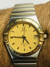 14k gold Watch ladies,14k yellow and stailess steel Omega watch ,  watch1 - $1,250.00