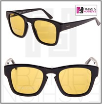 GUCCI GG3791S Square Sunglasses Shiny Black Yellow Mirrored 807BZ 3791 U... - $237.60